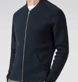 Ben Sherman Zip Through Milano Cardigan| Navy