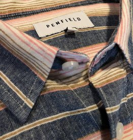 Penfield Hammet Indigo Stripe Shirt | Navy