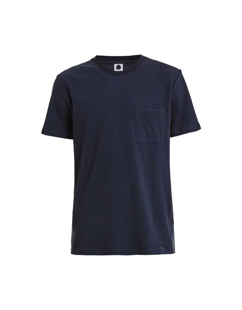No Nationality Pima Smart Tee With Pocket | Navy Blue