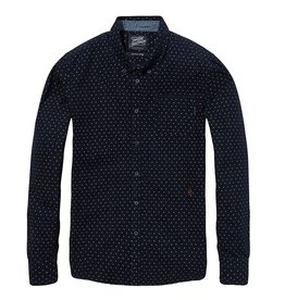 Scotch & Soda Printed Button Down Shirt | Dark Blue