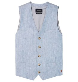 Scotch & Soda Classic Gillet Linen / Herringbone |Powder Blue