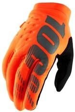 100% Brisker Cold Weather Gloves, Cal-Trans Orange, Small (FA16)