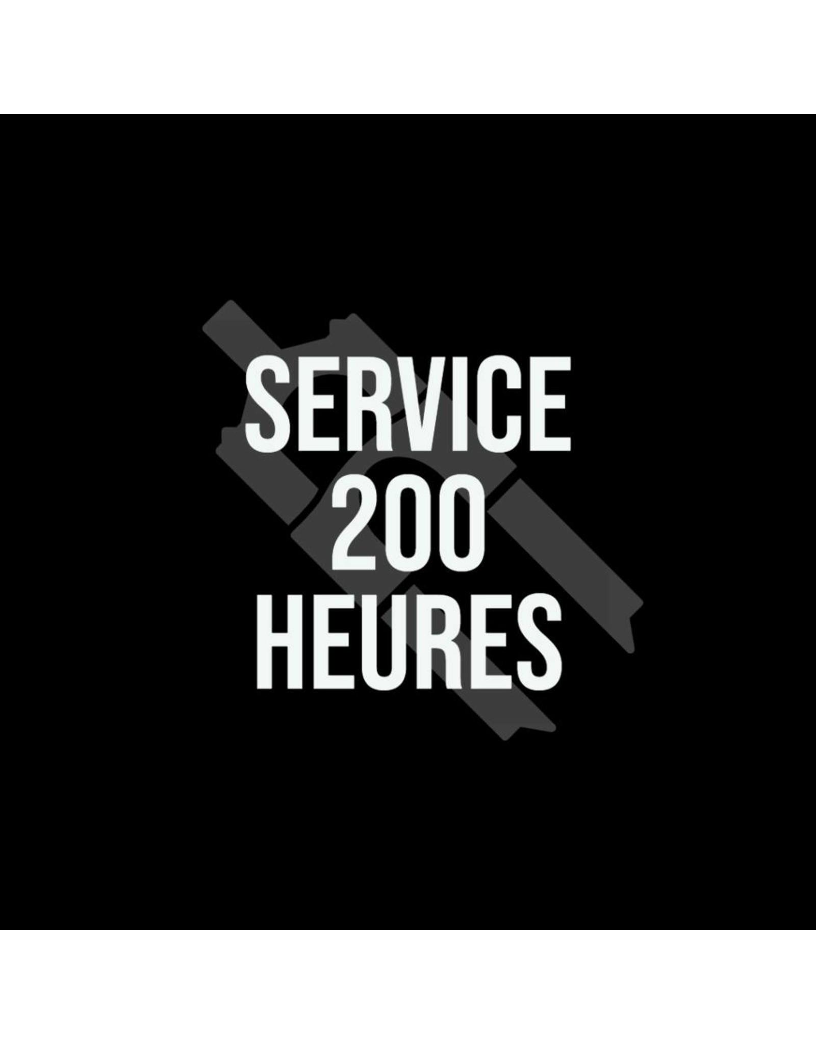 service 200 hrs ( minimum $150 + )