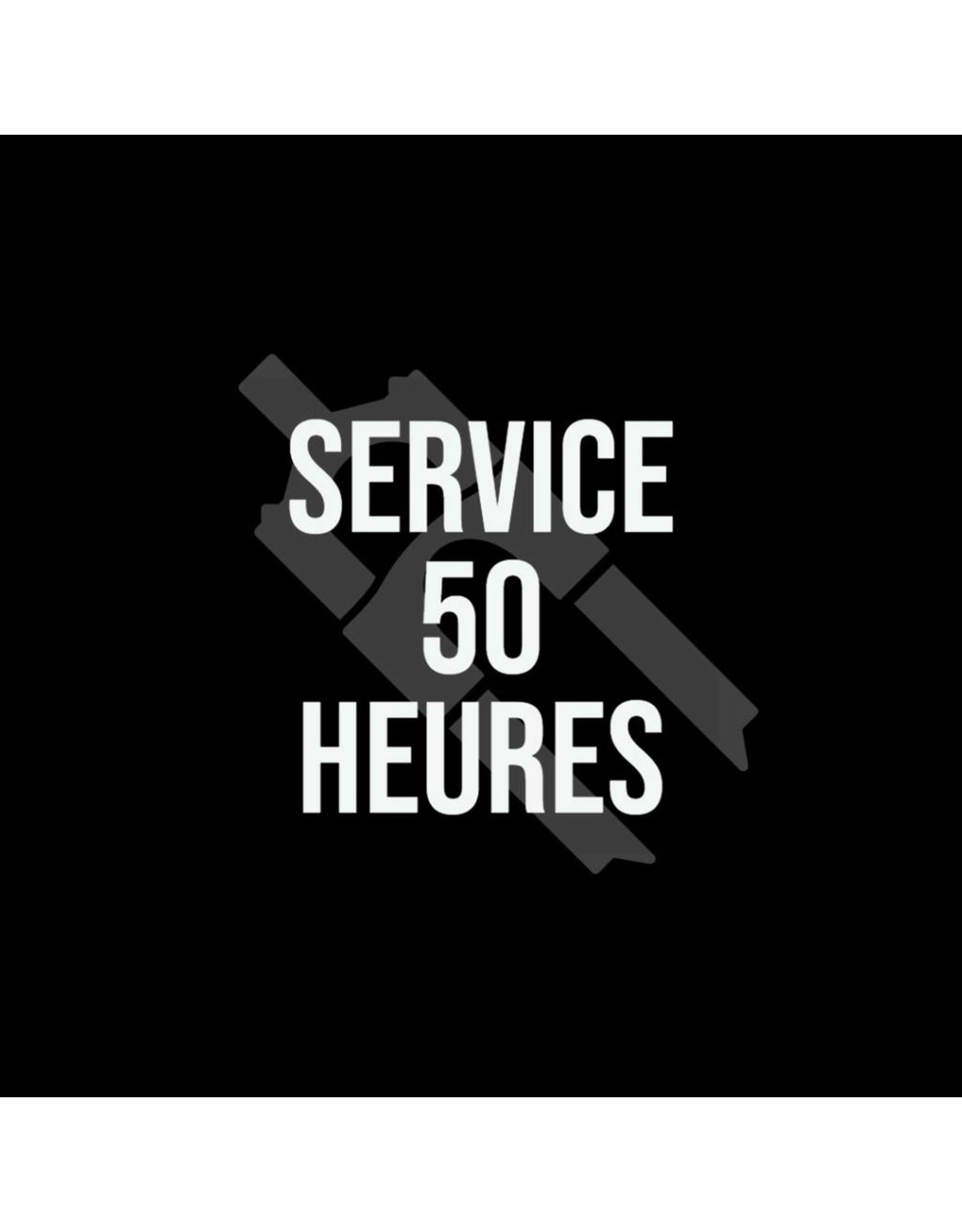 Service 50 hrs