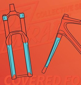 Ridewrap Ridewrap Covered Fork Protection Kit, Collective Series, Clear Gloss Finish