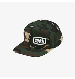 100% 100% Machine Snapback Hat, Camo, One Size