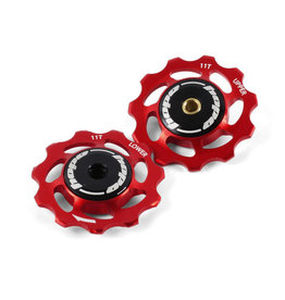 Hope JOCKEY WHEELS 11T PAIR ROUGE