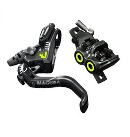 Magura MT7 Pro Disc Brake, Black and Neon Yellow, /each (fits Front or Rear, Flip-Flop)