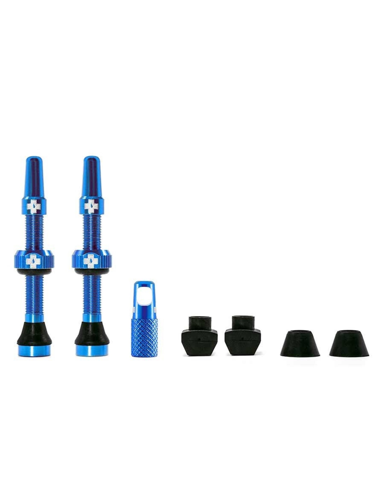 Muc-Off Valve Tubeless, Presta, 44mm, Bleu, Paire