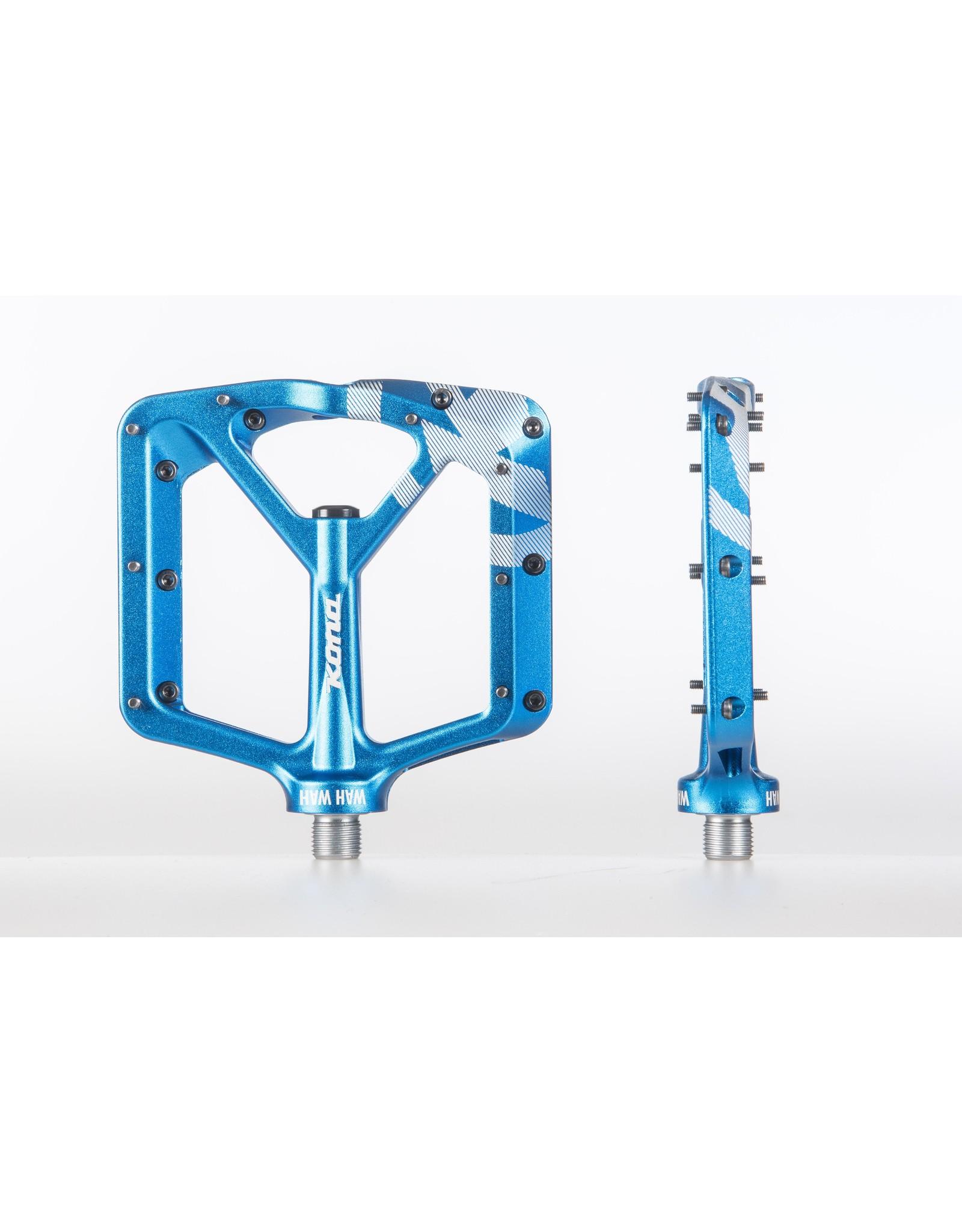 pedal kona wah wah 2 alloy bleu