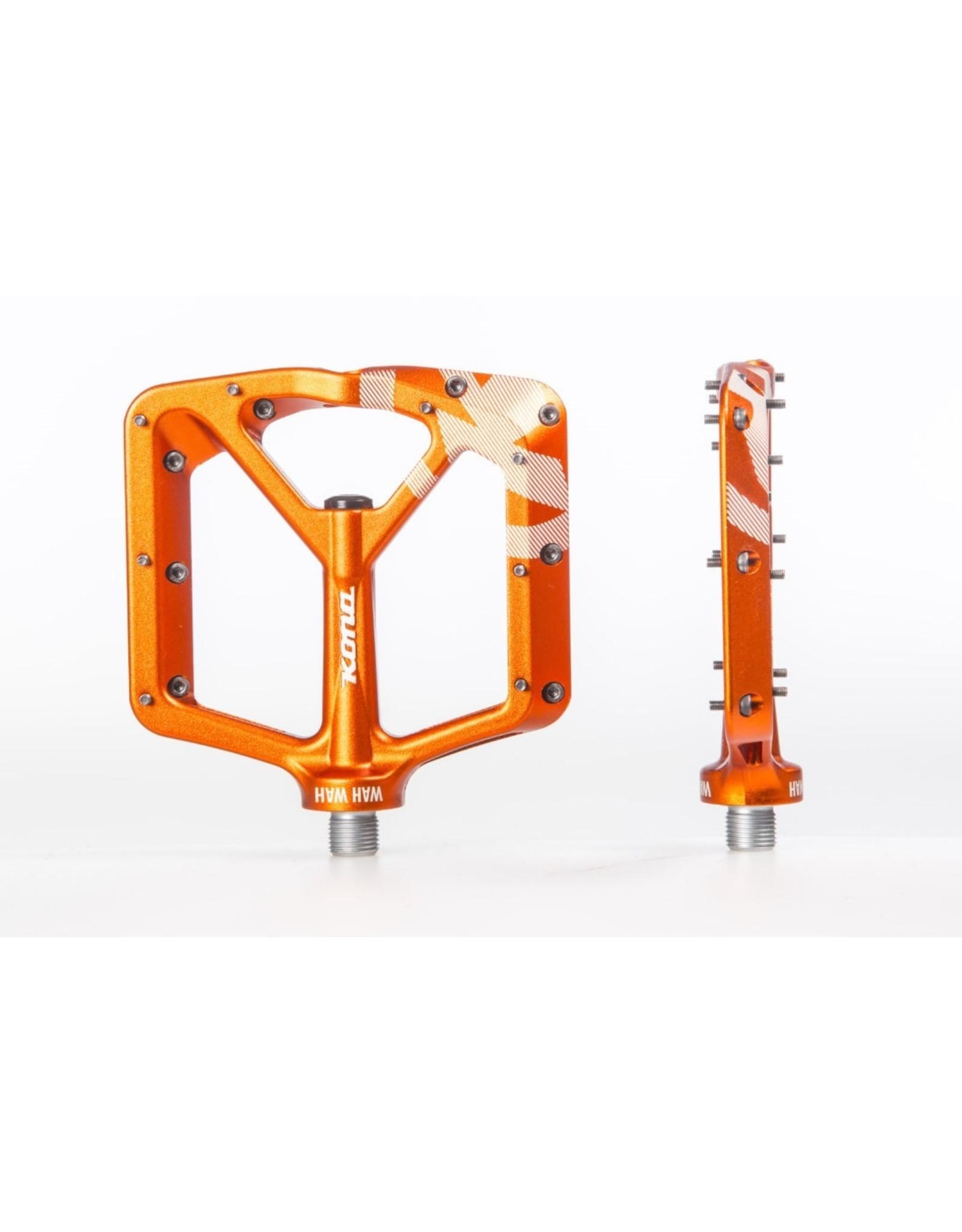pedal kona wah wah 2 alloy orange