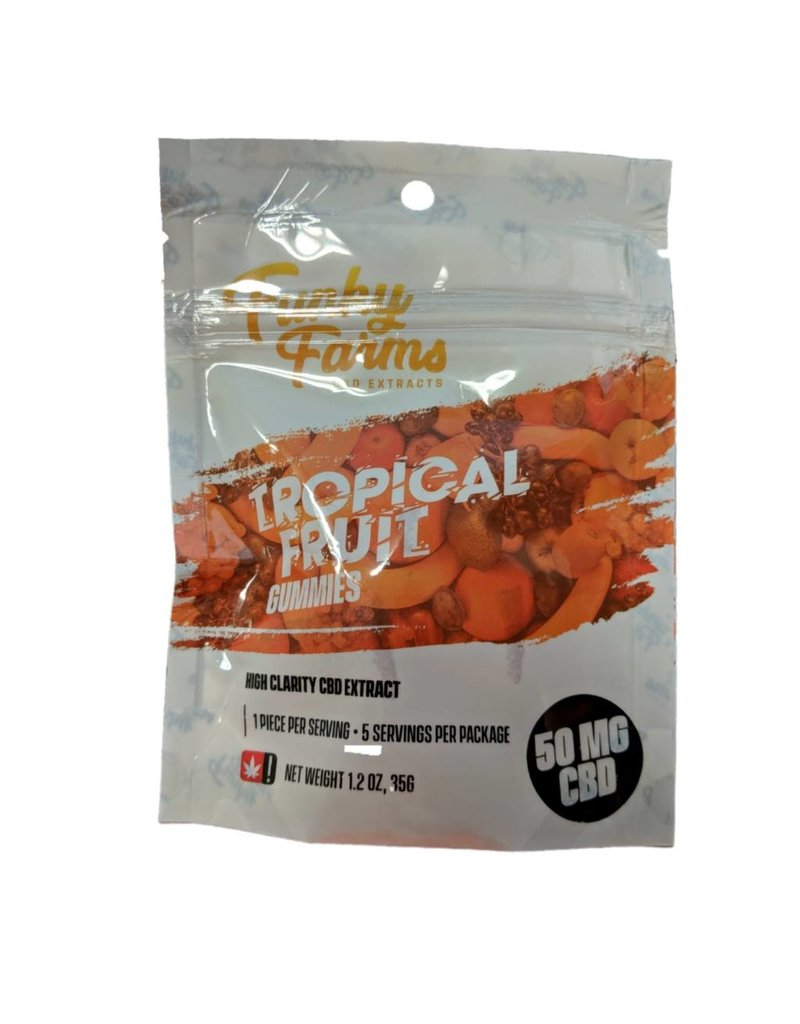 Funky Farms 50mg Funky Farms CBD Gummies - Tropical Fruit