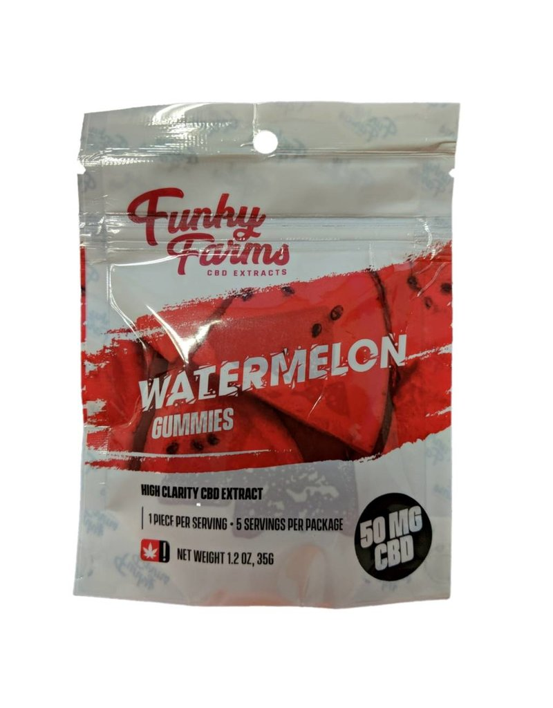 Funky Farms 50mg Funky Farms CBD Gummies - Watermelon