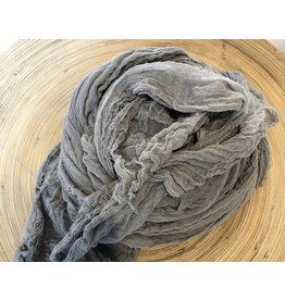 Scarf Shop Fine Organic Cotton Scarf- Smoke