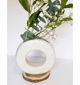 Lucy Michel Medium Loop Vase White