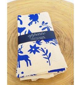 Appetite Shop Dish Towel Set-Blue Otomi