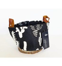 Appetite Shop Small Fabric Bucket-Cactus in Black