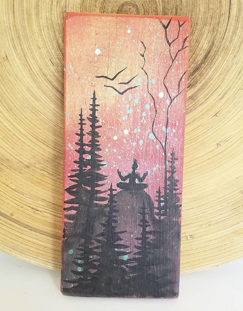 Basin Reclaimed Painted Wood Art Small- Yoga