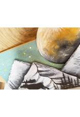 Basin Reclaimed Painted Wood Art Medium-Moose