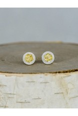 Jenny Reeves 6mm Erosion Posts with Keum-Boo, Sterling Silver
