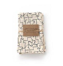 Jenny Pennywood Midnight Maze Napkins-set of 2