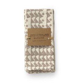 Jenny Pennywood Triangle Flax Napkin-Set of 2
