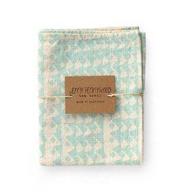 Jenny Pennywood Sea Blue Triangle Tea Towel