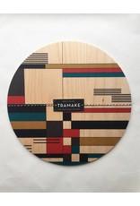 Tramake Bauhaus Printed Wood Trivet