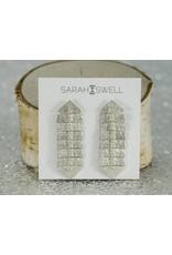 Sarah Swell Jewelry Fishbone 6 Bone Studs SS