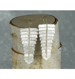 Sarah Swell Jewelry Fishbone XL Earrings SS