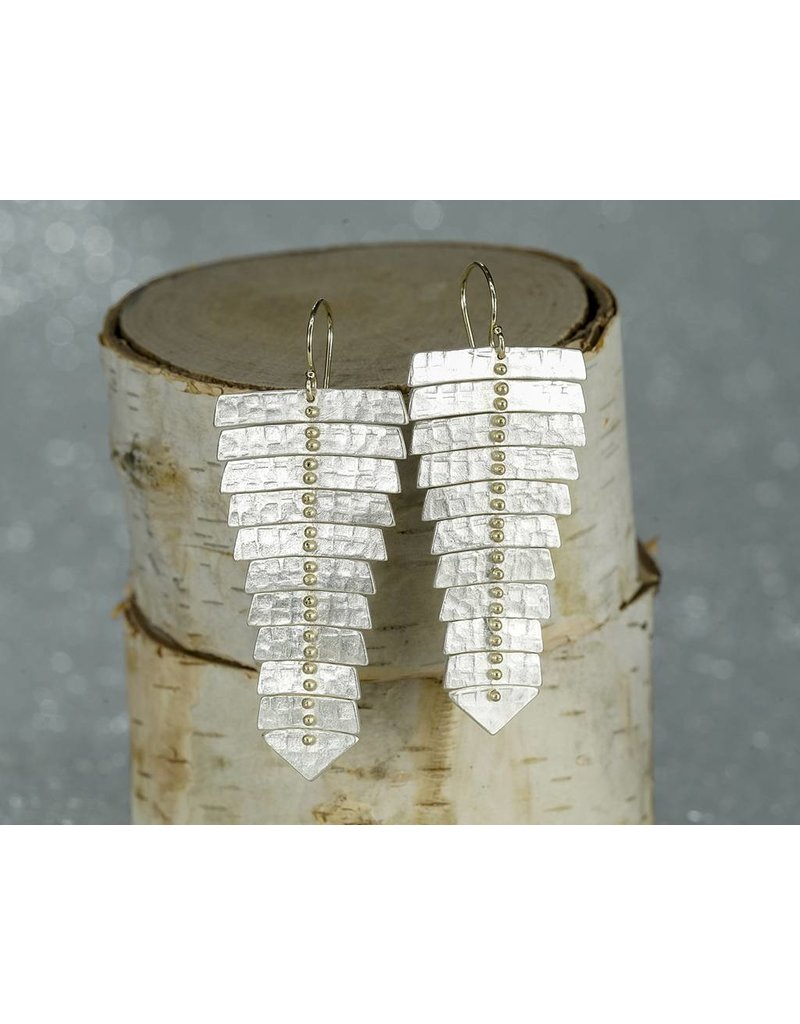 Sarah Swell Jewelry Fishbone XL Earrings SS