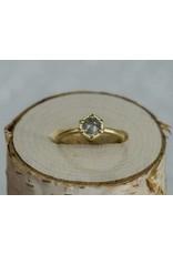Sarah Swell Jewelry Bridal: Deco Hex Ring 18k Rough Diamond size 6