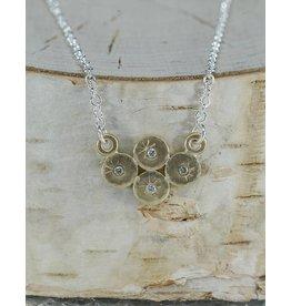 Sarah Swell Jewelry Quad Treasure Coin Necklace 18k Gold Diamonds