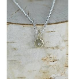 Sarah Swell Jewelry Mini Treasure Coin Necklace 18k Gold
