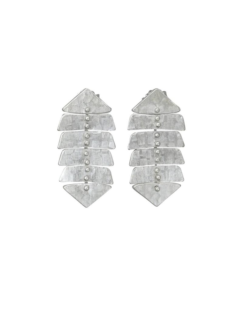 Sarah Swell Jewelry Fishbone Mini 4 Bone Studs Sterling Silver