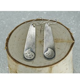 Elle Naz Sterling Silver Paisley Earrings