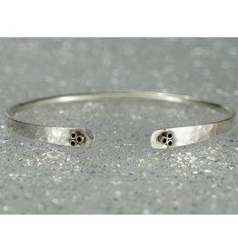 Elle Naz Sterling Silver Bracelet 14k Gold 6 Tubes