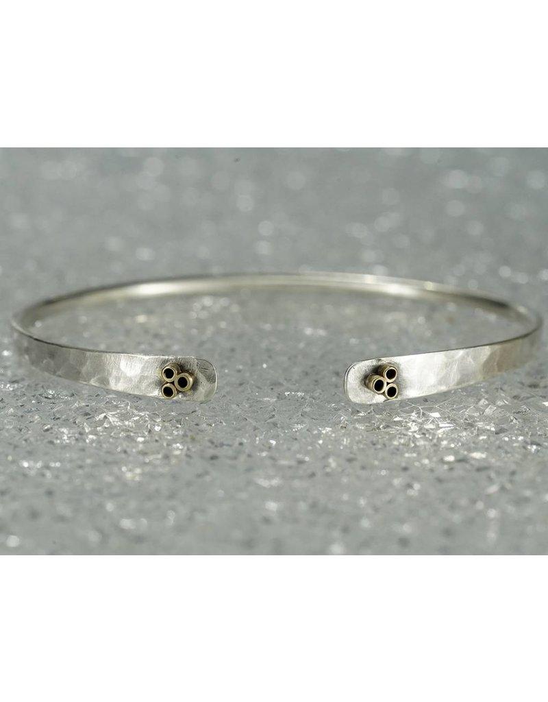 607d43066b0 Sterling Silver Bracelet 14k Gold 6 Tubes - DonLo Mercantile