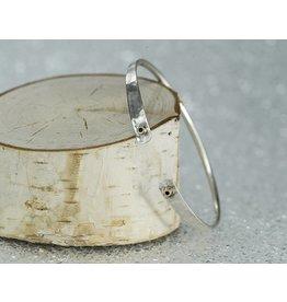 Elle Naz Sterling Silver 14k Gold Tubes Bracelet