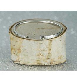 Elle Naz Sterling Silver 14K Gold Balls Bracelet