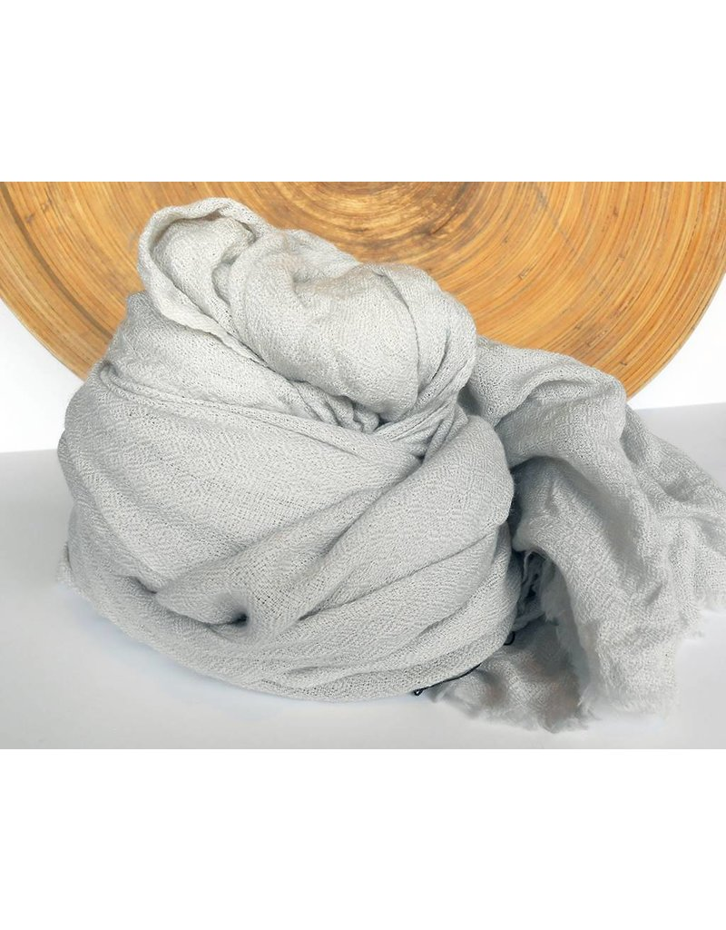 Scarf Shop Organic Cashmere Scarf-Grey