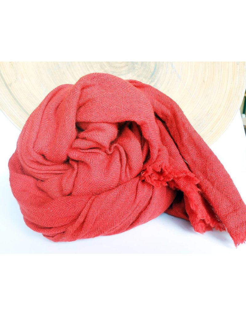 Scarf Shop Organic Cashmere Scarf-Red