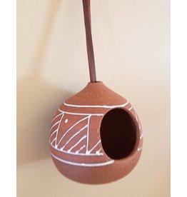 Gopi Shah Ceramics Terracotta Hanging Airplant-White Designs