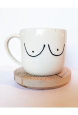 Gopi Shah Ceramics Boob Print Mug with Handle