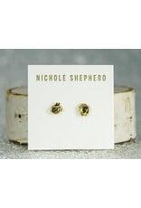 Nichole Shepherd Jewelry Gold Nugget Studs-24k