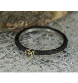 Sarah Graham Metalsmithings Pebble Stacking Ring, .05ct Cognac Diamond CC:7