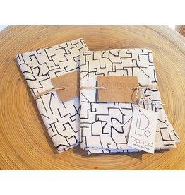 Jenny Pennywood Midnight Maze Tea Towel
