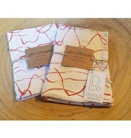 Jenny Pennywood Weave Terra Cotta Tea Towel