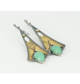 Jenny Reeves Terra Lotus Earrings with Chrysoprase