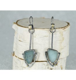 Jenny Reeves Aqua Druzy Pinnacle Earrings